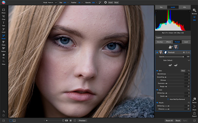 New Portrait Tools Before