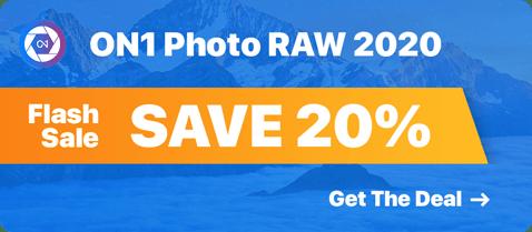ON1 Photo RAW 2020 Flash Sale!