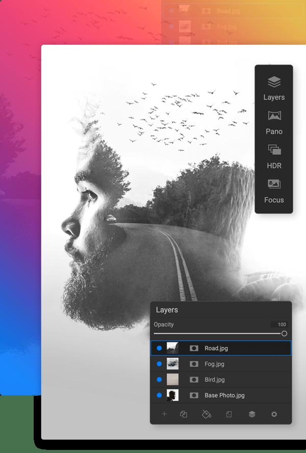 Combine Photos Non-Destructively in the Same App