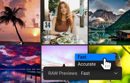 Fast Preview Mode