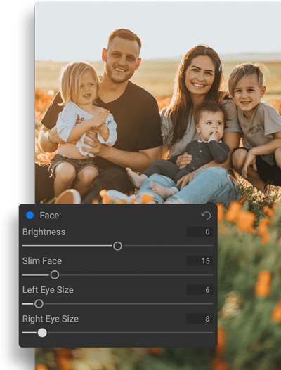 AI Automatic Retouching for Every Face