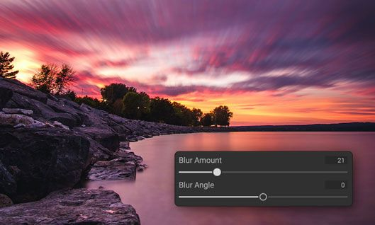 Quickly Blur Skies to Simulate a Long Exposure