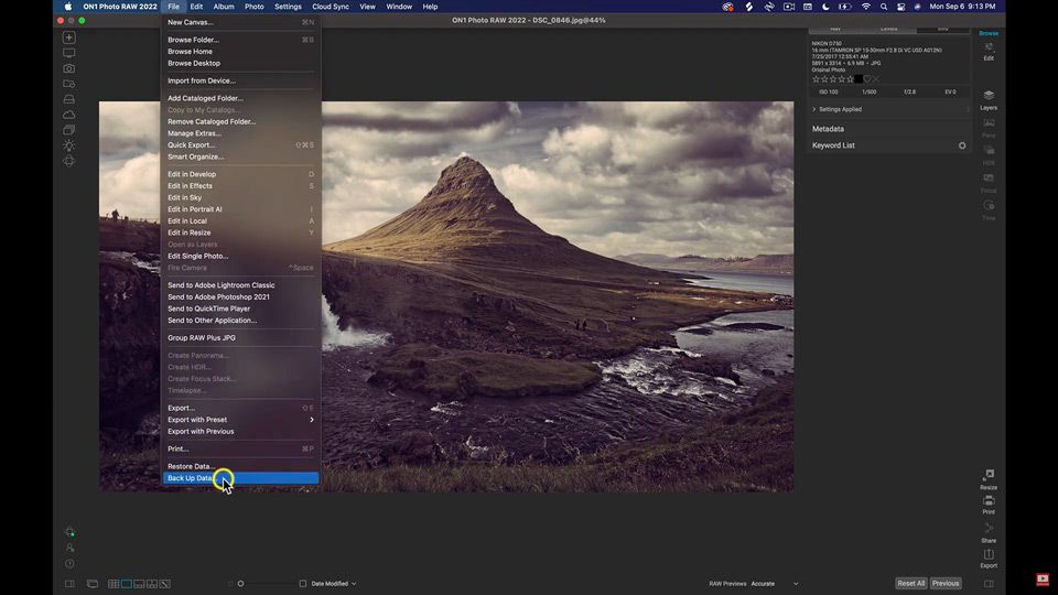 Backup and Restore Your Editing