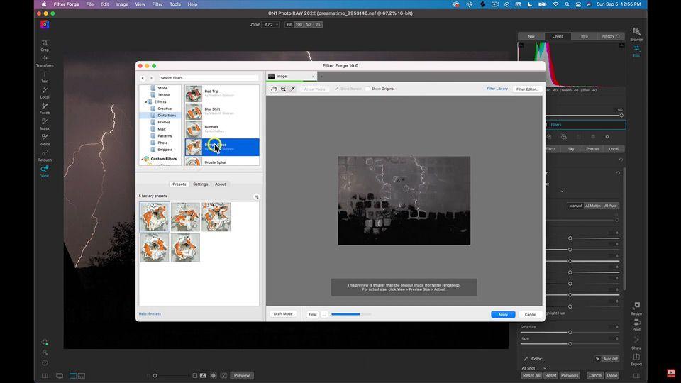 Run Photoshop Plugins Directly Inside of Photo RAW